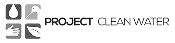 Project Clean Water logo grayscale